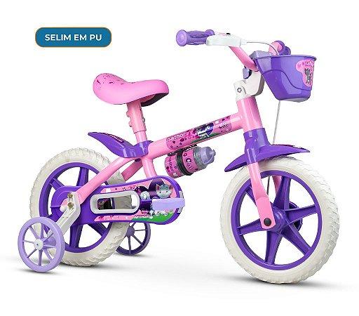Bicicleta NATHOR Cat Feminina Aro 12 Rosa
