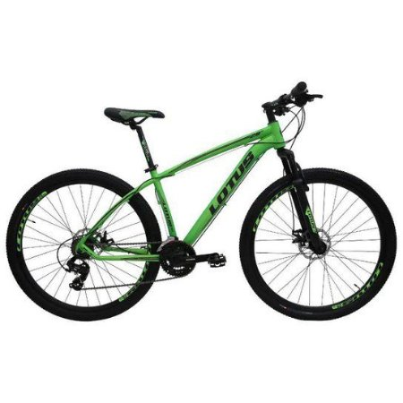 Bicicleta LOTUS Mec Aro 29 21V Verde/Preto - Tam. 19