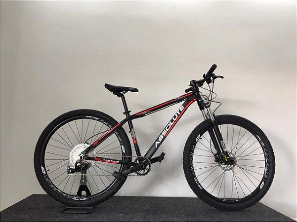 Bicicleta ABSOLUTE Aro 29 12V Preto/Vermelho - Tam.17