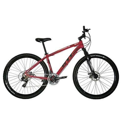 Bicicleta Aro 29 GTI ROMA 24V - Vermelho/Preto - Tam. 19