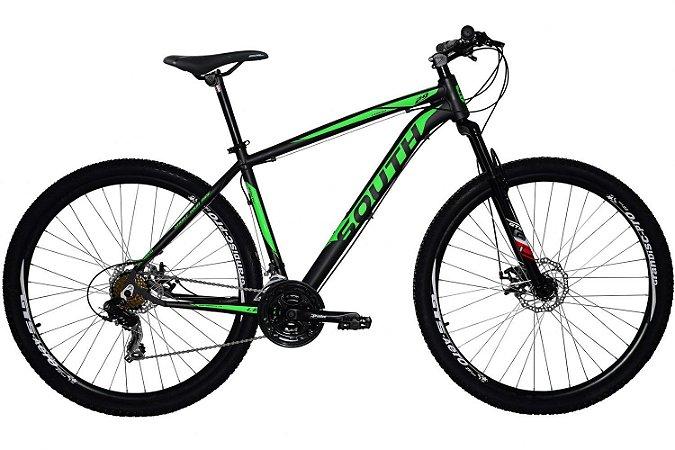 Bicicleta SOUTH Legend Aro 29 21V Preto/Verde - Tam. 17