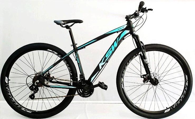 Bicicleta KSW XL 27V Preto/Azul - Tam. 17