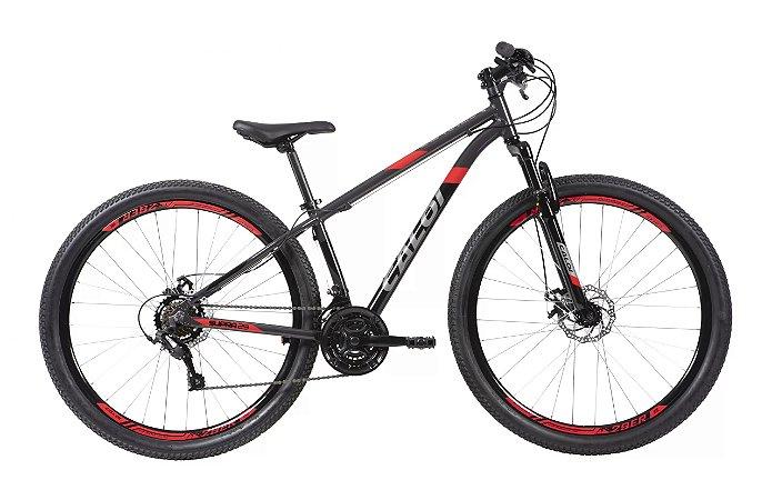 Bicicleta Caloi Supra 29 Aro 29 21 V Preto - Tam. 17