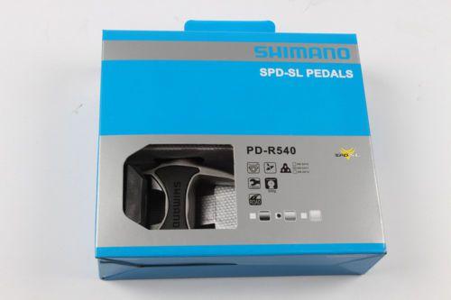 Pedal Shimano Spd Road Pd-r540 Preto-  acompanha Clip amarelo