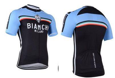 Camisa de Ciclismo Bianchi Azul/Preta - TAM. G