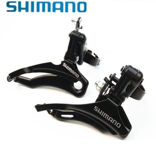 Câmbio Dianteiro 28.6/31.8 Shimano Tourney FD-TZ31  - Braçadeira na tração superior/inferior