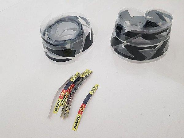 Adesivos Gloss Black Rodas MAVIC SSC Carbon CX-01 Technology - Dianteira  60mm / traseira 88mm