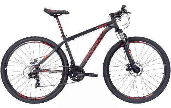 Bicicleta TSW Ride Tam. 17   29w preto/vermelho  - alumínio 6061