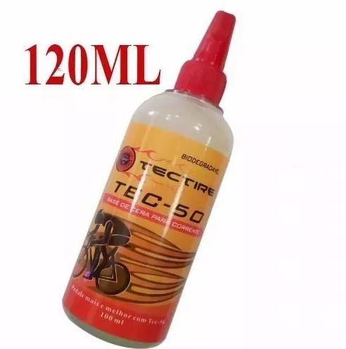 Óleo Lubrificante Tectire Tec-50 Bio Cera Bike - 120 Ml