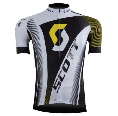 Camisa de Jersey Scott Branca/Preta/Amarela - Tam. M