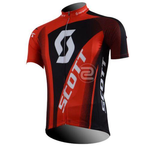 Camisa de Jersey Scott Preta/Vermelha - Tam. M