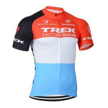 Camisa de Jersey TREK - Vemelha/Branca/Azul - Tam. G