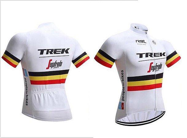 Camisa de Jersey TREK - Branca/Preta/Amarela/Vermelha - Tam. M