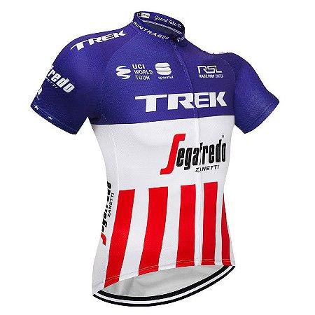 Camisa de Jersey TREK - Azul/Branco/Vermelho (Listrado)  - Tam. M