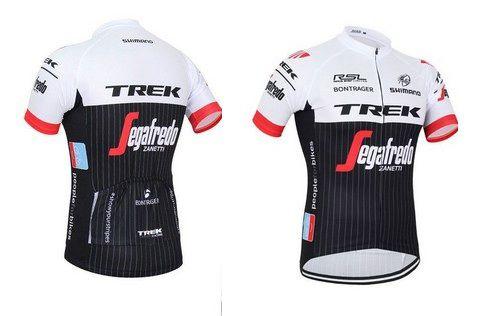Camisa de Jersey TREK - Branca/Preta/Vermelha - Tam. G