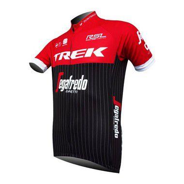 Camisa de Jersey TREK - Vermelha/Preta/Branca - Tam. M