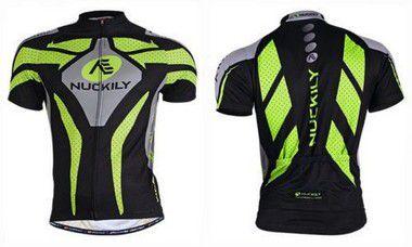 Camisa de ciclismo Nuckily Verde/Preto - Tam. G