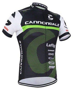 Camisa de ciclismo Cannondale Verde/ Preto / Branco - TAM. M