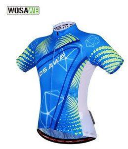 Camisa de Jersey ciclismo Azul/Verde/Branco Osawe - Tam. G