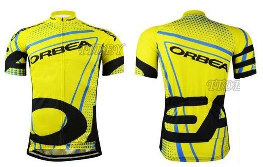 Camisa de Jersey manga curta bike ciclismo - Orbea Amarela/Preta - Tam. M