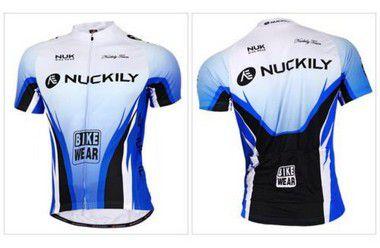 Camisa de ciclismo Nuckily Azul/Branco/Preto - Tam. G