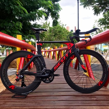 Bicicleta Scott Premiun 2018 Contra-Relógio Preto/vermelho - Tam. 54