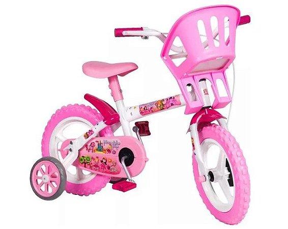 Bicicleta infantil aro 12 Princesinha Bike Styll