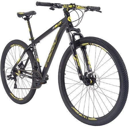 Bicicleta TSW Ride  Tam. 17  29r - preto/amarelo  - alumínio 6061