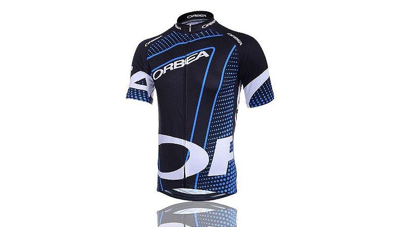 Camisa de Jersey Manga Curta Bike Ciclismo - Orbea Azul - Tam. G