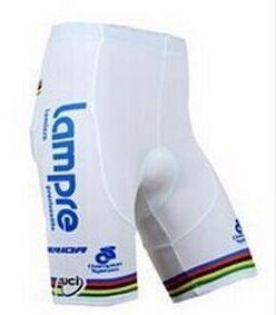 Short de Ciclismo Lampre - Branco/Azul - Tam. G