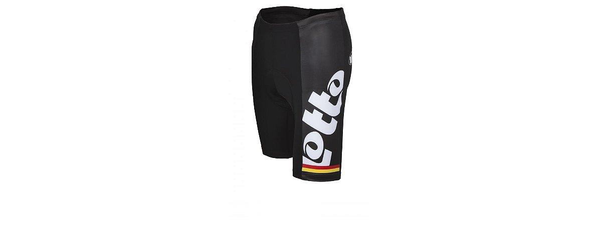 Short de Ciclismo - Belisol/Lotto Preto/Branco - Tam G