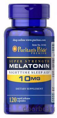 Melatonina 10 mg auxílio para sono 120 capsulas - Made In Usa