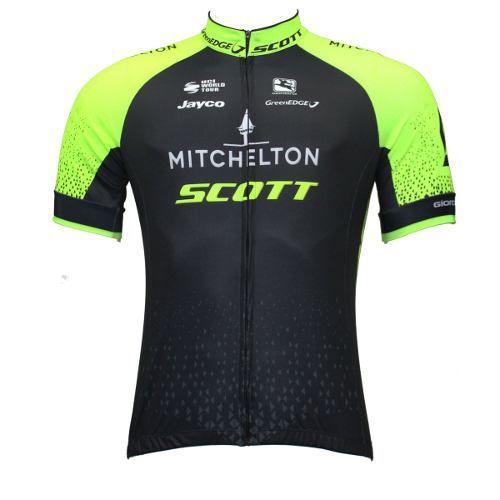 Camisa de Jersey Scott/Mitchelton Preta/Verde - Tam. GG