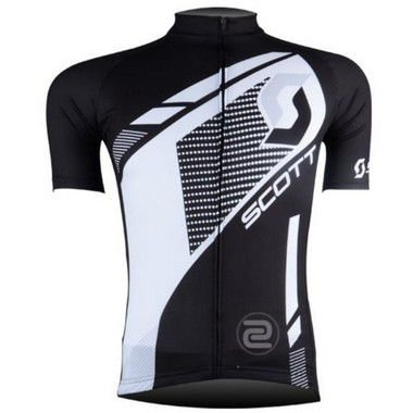 Camisa de Jersey Scott Preta/Branca - Tam. M