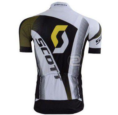 Camisa de Jersey Scott - Branca/Preta/Amarela - Tam. GG