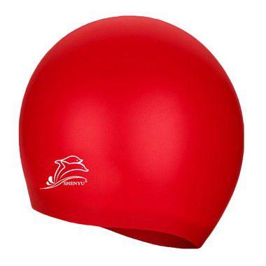 Touca de Silicone p/ Natação (Flexível e Impermeável) - Vermelha