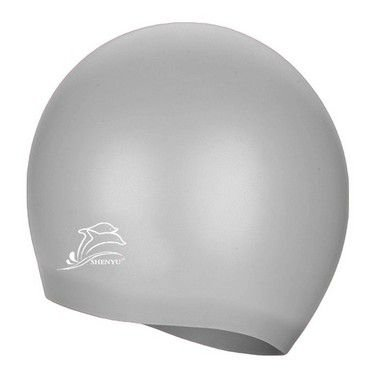 Touca de Silicone p/ Natação (Flexível e Impermeável) - Prata