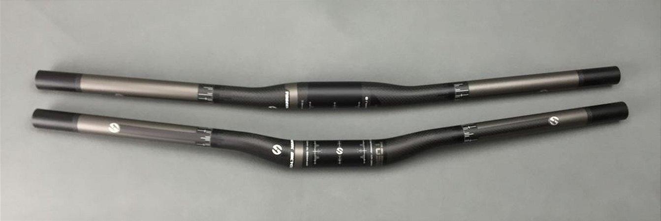 Guidão TOSEEK Bicycle Carbon 31.8mm/ 720mm