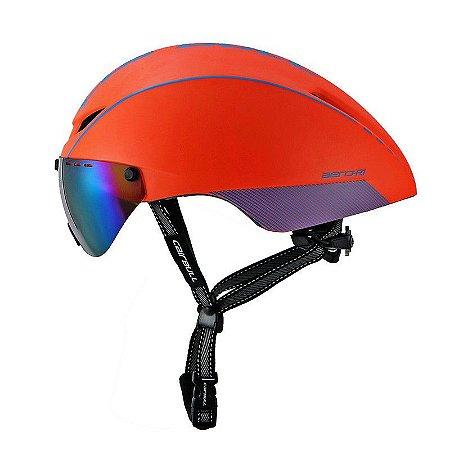 Capacete de Ciclismo CairBull Aero R1 Laranja (Com Viseira)