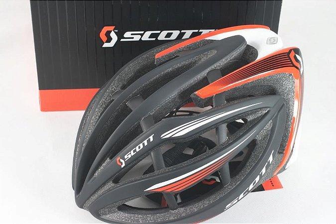 Capacete Ciclismo SCOTT Alonzo TamG Preto/Vermelho/Branco