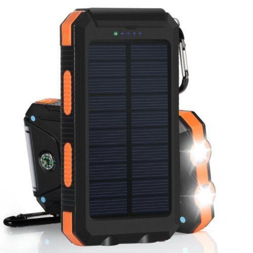 Carregador de Bateria á Luz Solar USB Portátil 300000mAh - P/ Celular