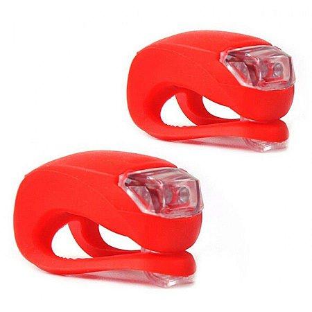 Refletor de LED TSW Light Set c/ Silicone Vermelho - Par - 3385 MOD02