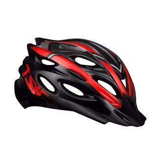 Capacete de Ciclismo TSW MTB Tune Preto Vermelho (C/ Viseira) - Tam. M - 10155