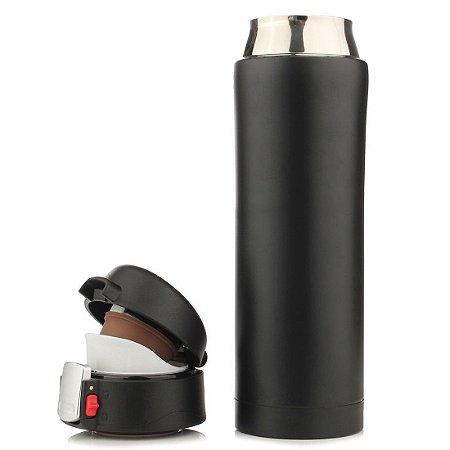 Garrafa Térmica 500ml - Thermos - Aço Inox / Preta