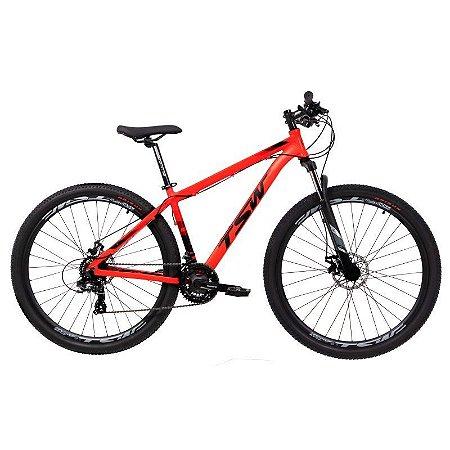 """Bicicleta TSW Ride 29"""" Tam. 19 - Vermelho Fluor / Preto -  21 velocidades"""