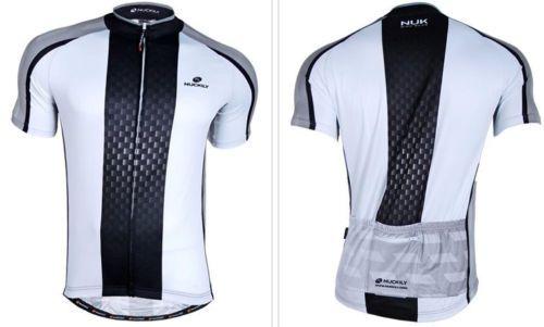 Camisa ciclismo NUCKILY Branco/PRETO - TAM. GG