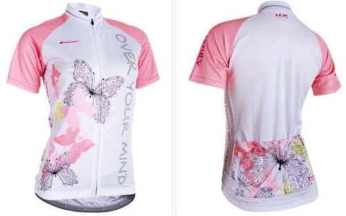Camisa ciclismo NUCKILY Branco/Rosa - TAM. M