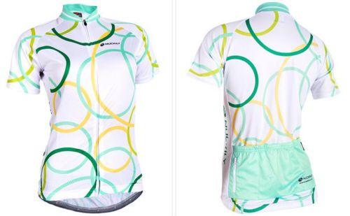 Camisa Ciclismo NUCKILY Branco/Verde - TAM. M