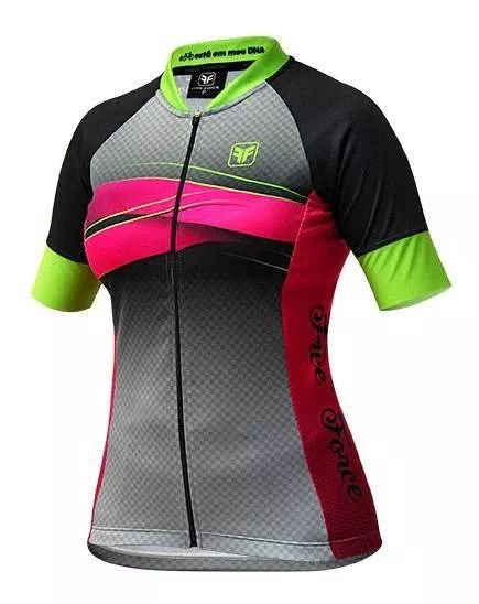 Camisa Ciclismo Feminina FREE FORCE Swell Cinza - TAM. G