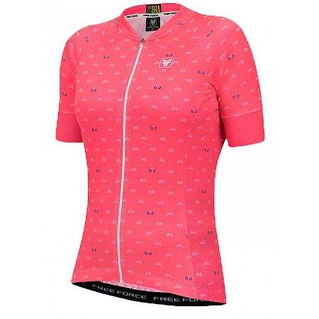 Camisa Ciclismo Feminina Cycles Coral - TAM. G